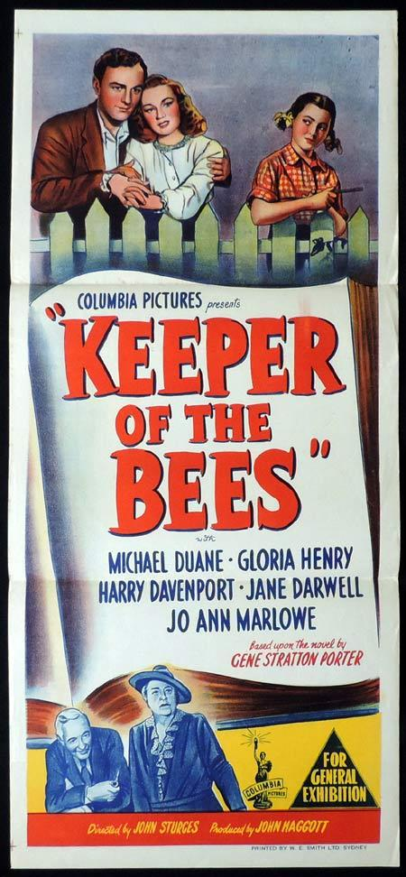 KEEPER OF THE BEES Original Daybill Movie Poster Michael Duane Gloria Henry