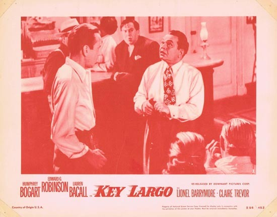 KEY LARGO 1956r Humphrey Bogart Lobby Card 2