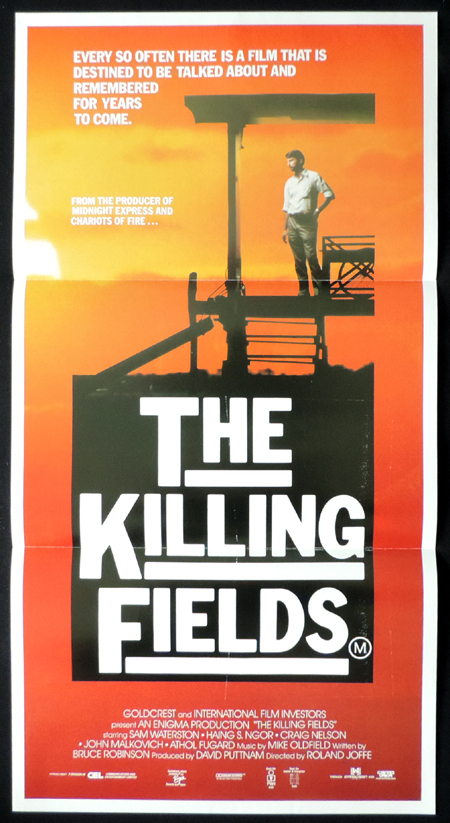 THE KILLING FIELDS Australian Daybill Movie poster Sam Waterston Hang Ngor Vietnam