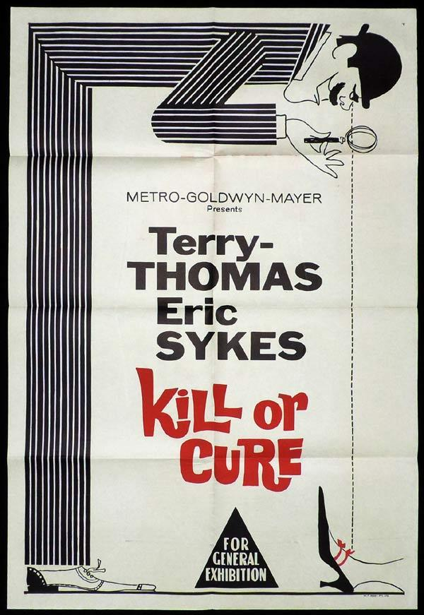KILL OR CURE One Sheet Movie Poster Terry-Thomas Eric Sykes British Comedy
