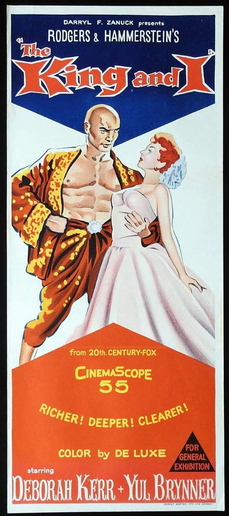 THE KING AND I Original daybill Movie Poster Deborah Kerr Yul Brynner Rita Moreno 1960sr