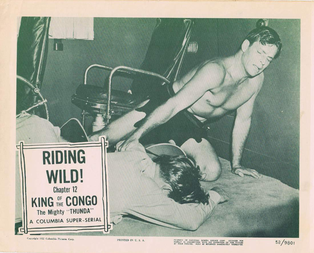KING OF THE CONGO Original Lobby Card Chapter 12 Columbia Serial Buster Crabbe