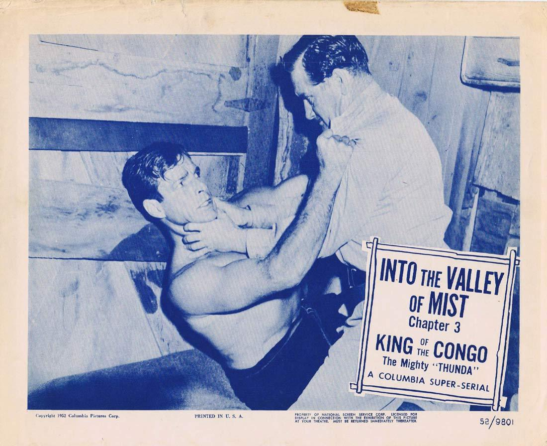 KING OF THE CONGO Original Lobby Card 2 Chapter 3 Columbia Serial Buster Crabbe