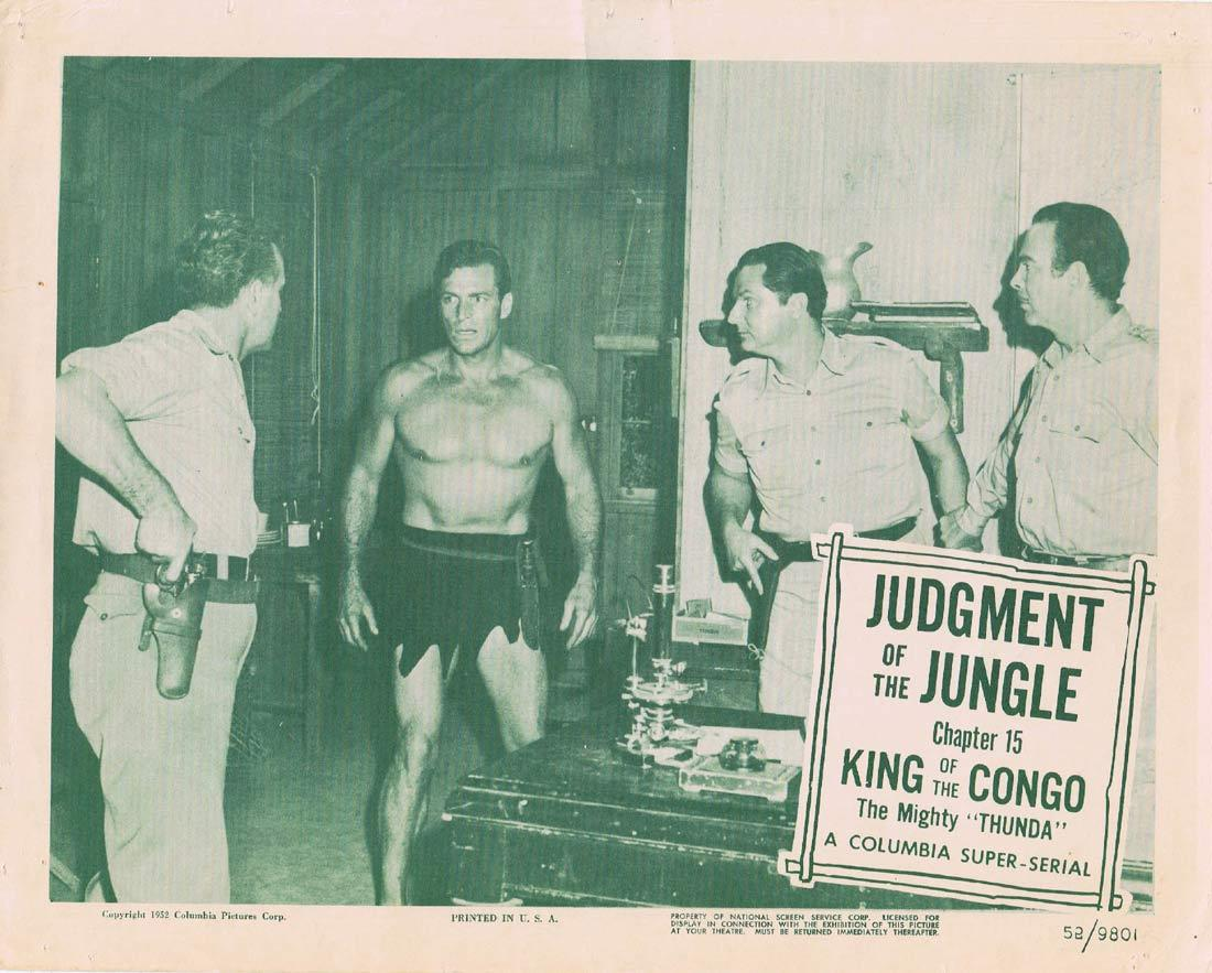 KING OF THE KONGO The Mighty Thunda Original Lobby Card Columbia Serial 1952