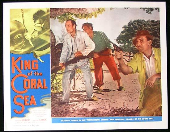 King of the Coral Sea, Lobby Card, Movie Poster, Lee Robinson, Chips Rafferty, Charles 'Bud' Tingwell, Ilma Adey