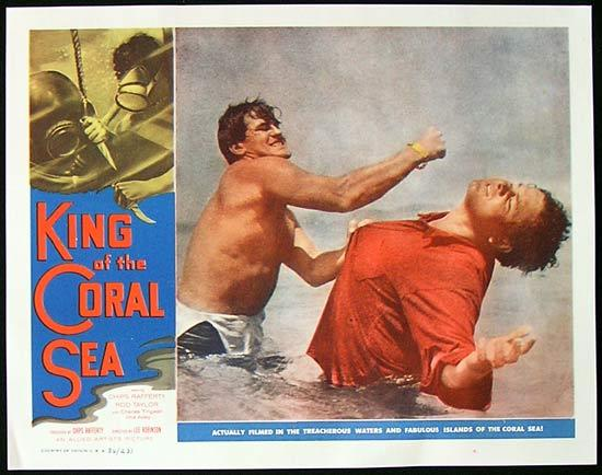 KING OF THE CORAL SEA Lobby Card 3 1953 Rod Taylor