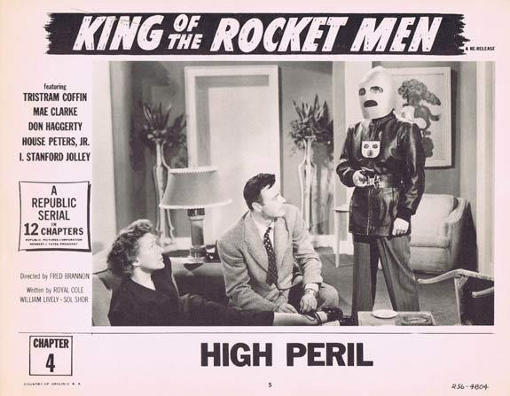 KING OF THE ROCKET MEN 1956r Republic Cliffhanger Serial Lobby Card (Chapt 4)