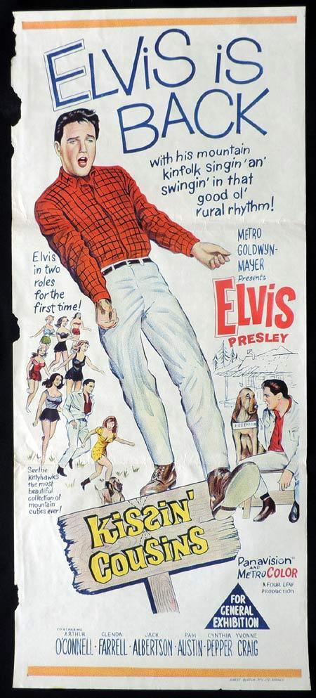 KISSIN COUSINS Original Daybill Movie Poster Elvis Presley