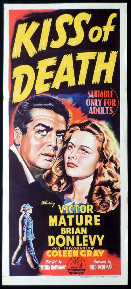Kiss of Death, Henry Hathaway, Victor Mature, Brian Donlevy, Coleen Gray, Richard Widmark