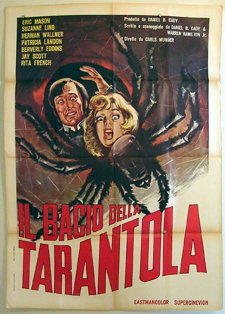 KISS OF THE TARANTULA Italian Movie Poster Spider Horror art