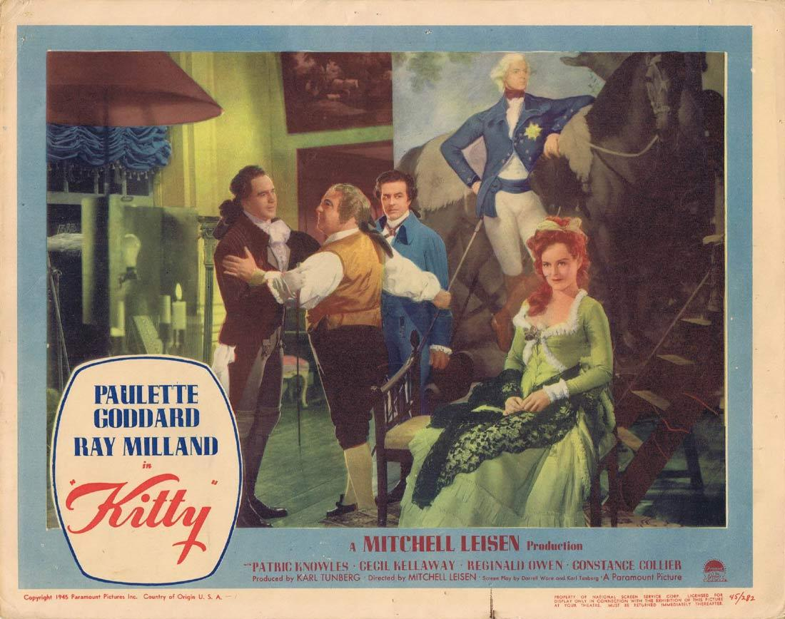 KITTY Lobby Card 3 Paulette Goddard Ray Milland