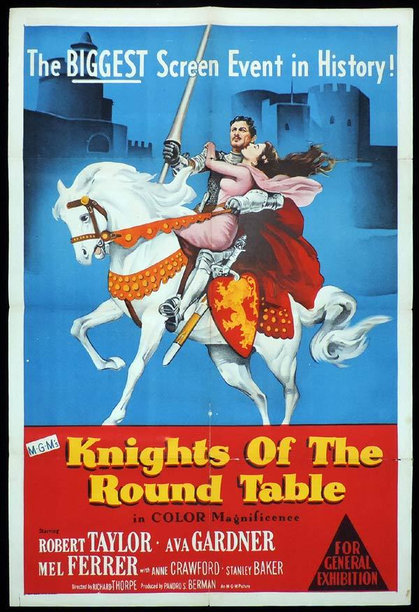 KINGHTS OF THE ROUND TABLE One sheet Movie poster Robert Taylor