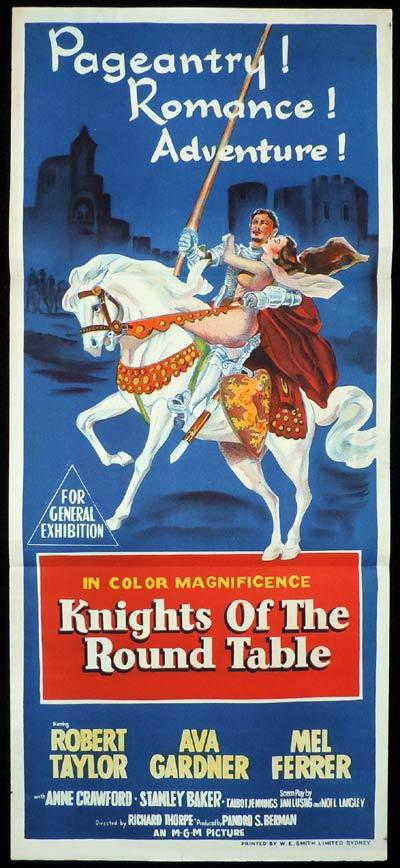 KNIGHTS OF THE ROUND TABLE Original Daybill Movie Poster Robert Taylor
