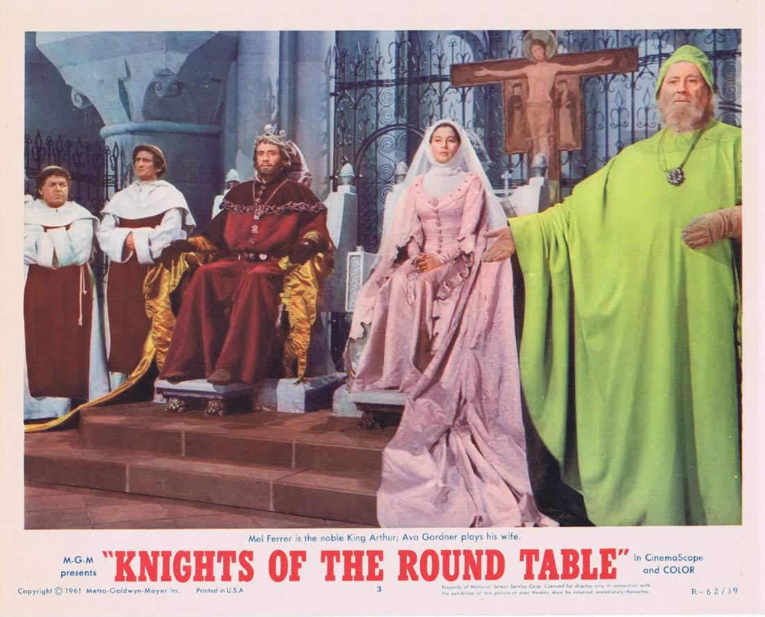 KNIGHTS OF THE ROUND TABLE Lobby Card Ava Gardner Mel Ferrer