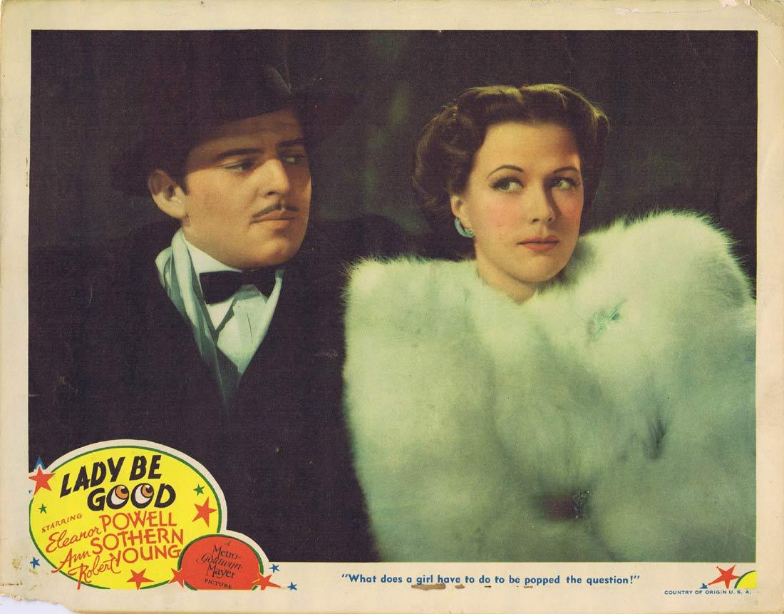 LADY BE GOOD Lobby Card Eleanor Powell Robert Young Ann Sothern