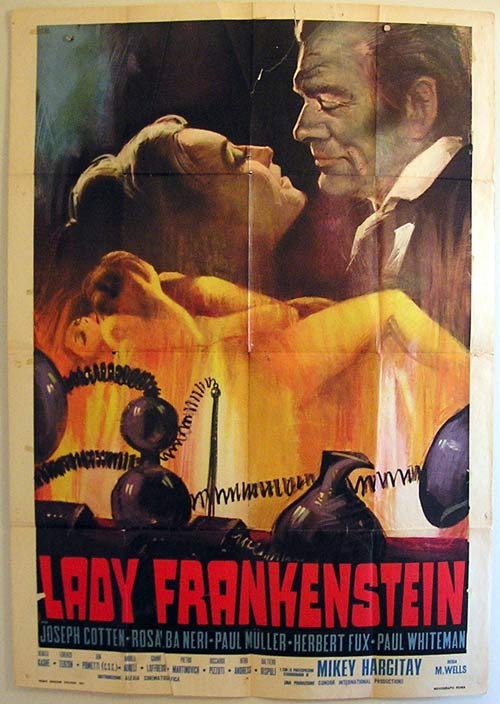 LADY FRANKENSTEIN Rare ORIGINAL Italian Movie poster