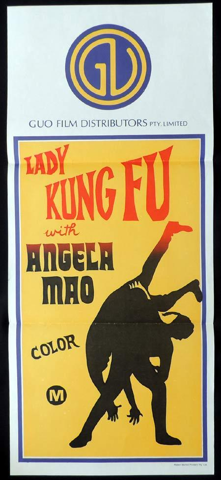 LADY KUNG FU Stock GUO Blank Daybill Movie poster 1970s