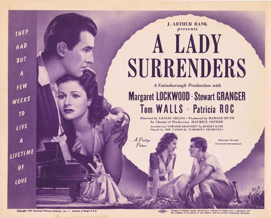A LADY SURRENDERS Title Lobby Card Margaret Lockwood Stewart Granger Patricia Roc
