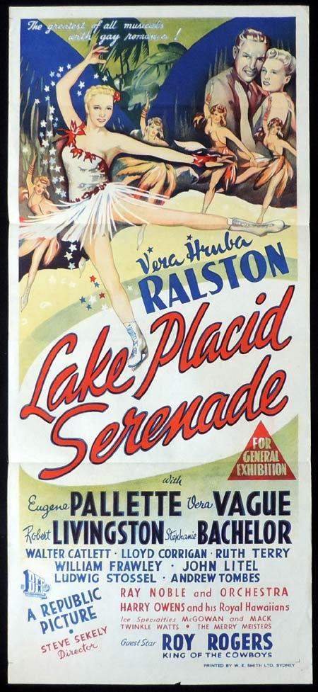 LAKE PLACID SERENADE Original Daybill Movie Poster Vera Ralston