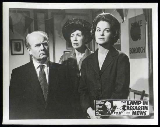 LAMP IN ASSASSIN MEWS Rare British Film Noir Lobby Card 5 - The Lamp in Assassin Mews (1962) 