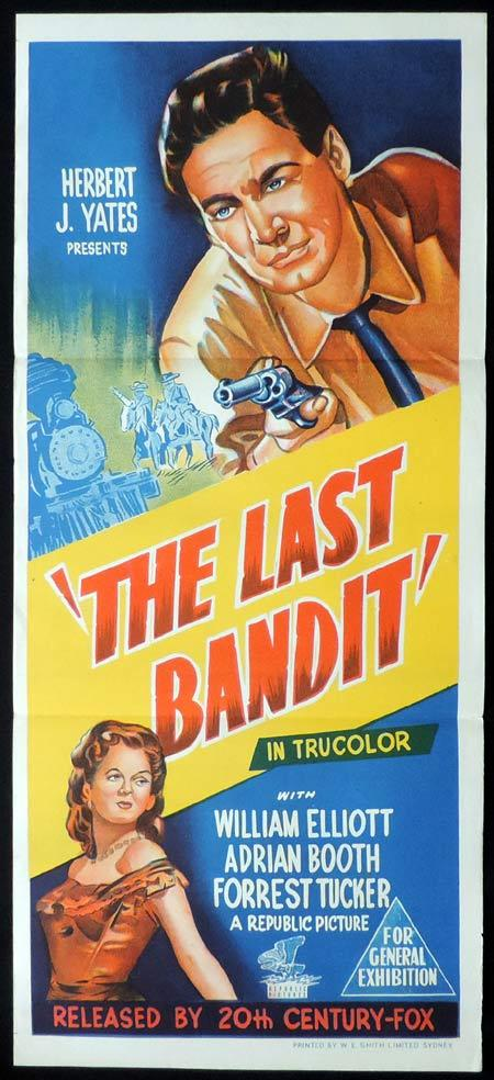 THE LAST BANDIT Original Daybill Movie Poster Bill Elliott