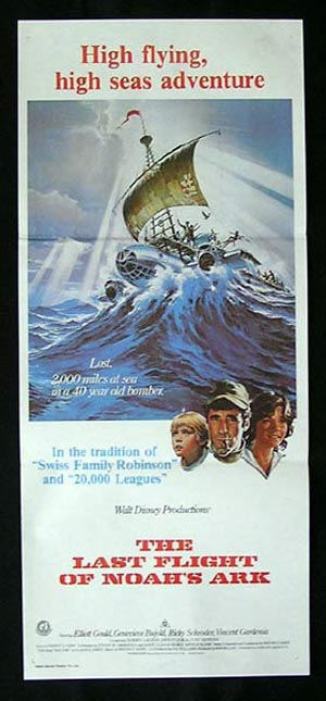 LAST FLIGHT OF NOAH'S ARK Elliott Gould RARE Daybill Movie poster