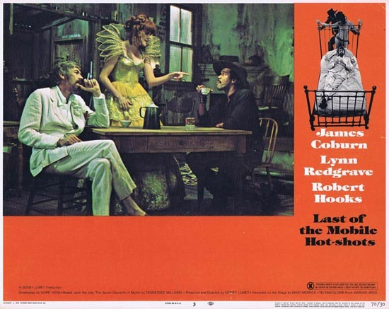 LAST OF THE MOBILE HOT SHOTS 1970 US Lobby card 3 James Coburn