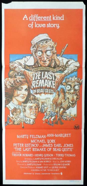 LAST REMAKE OF BEAU GESTE Daybill Movie poster Marty Feldman