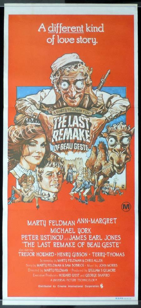 THE LAST REMAKE OF BEAU GESTE Original Daybill Movie Poster Marty Feldman