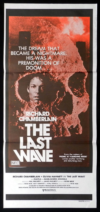 THE LAST WAVE 1977 Peter Weir Pink SKULL STYLE NZ daybill poster