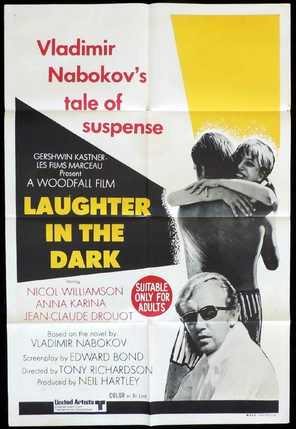 Laughter in the Dark, Tony Richardson, Anna Karina, Nicol Williamson, Jean-Claude Drouot, Peter Bowles, Siân Phillips, Sebastian Breaks, Kate O'Toole, Edward Gardner, Sheila Burrell, Willoughby Goddard, Basil Dignam, Philippa Urquhart, Helen Booth