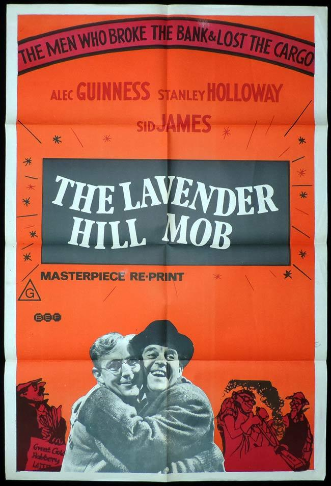 THE LAVENDER HILL MOB One Sheet Movie Poster EALING Alec Guinness Stanley Holloway