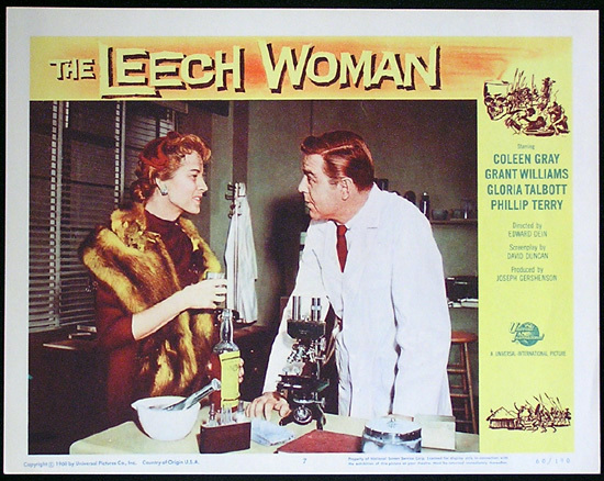 LEECH WOMAN Colleen Gray Sci Fi Lobby card 7