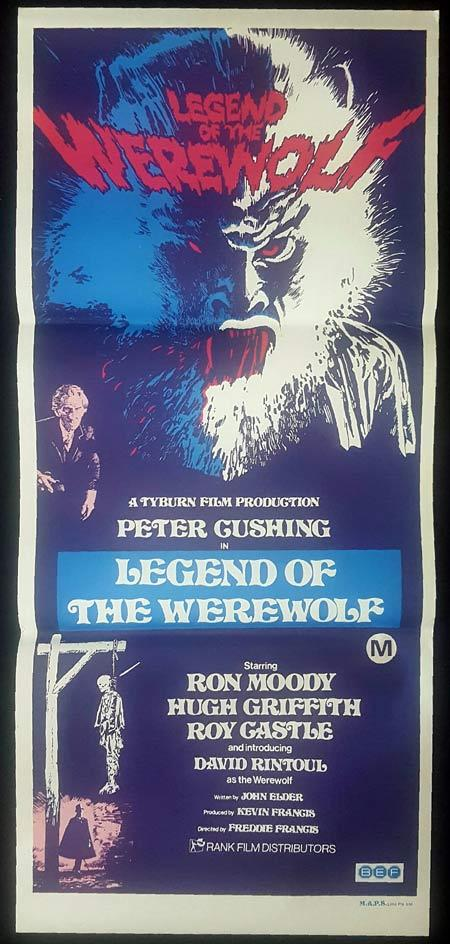 LEGEND OF THE WEREWOLF Original Daybill Movie Poster PETER CUSHING Freddie Francis