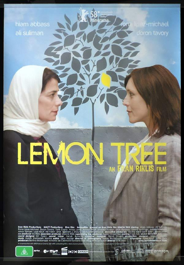 LEMON TREE One Sheet Movie Poster Hiam Abbass Israeli Film