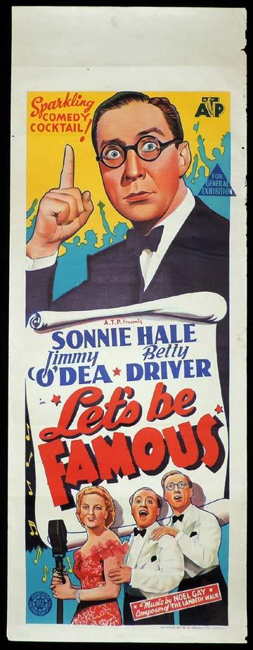 LETS BE FAMOUS Long Daybill Movie Poster 1939 Ealing Studios