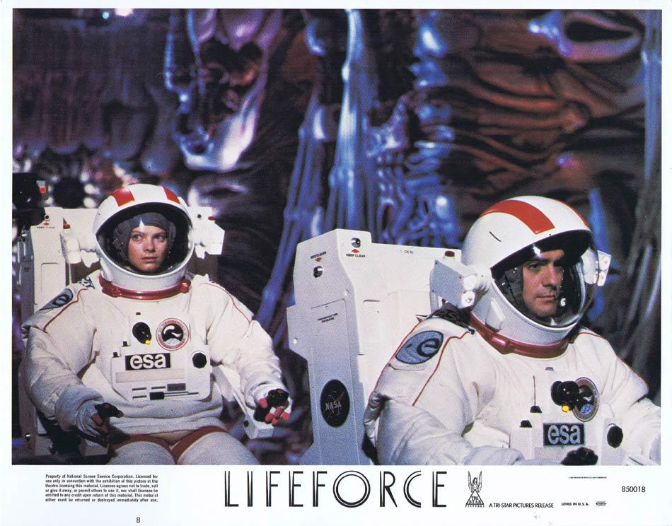 LIFEFORCE Lobby Card 8 Space Vampires Sci Fi Horror