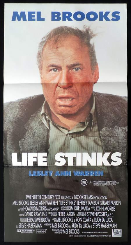 LIFE STINKS Daybill Movie poster Mel Brooks