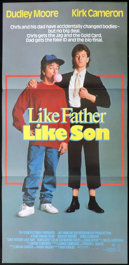 Like Father Like Son, Rod Daniel, Dudley Moore, Kirk Cameron, Margaret Colin, Catherine Hicks, Sean Astin