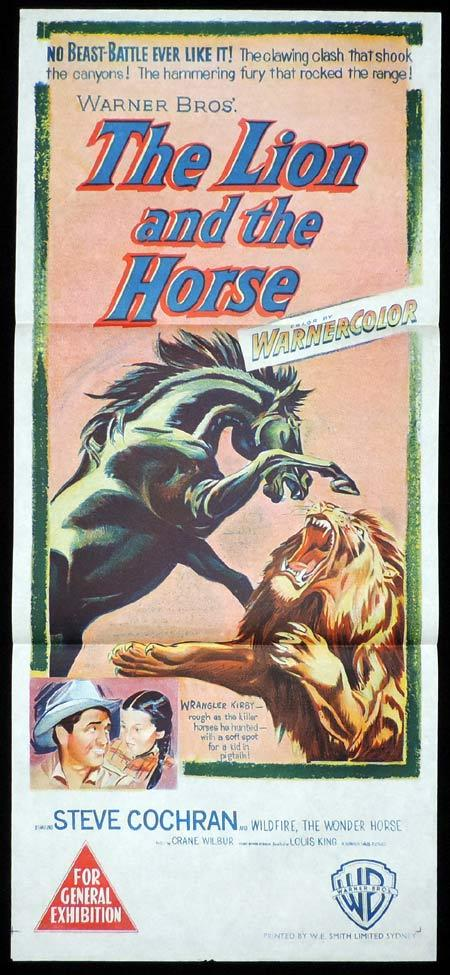 THE LION AND THE HORSE Original Daybill Movie Poster Steve Cochran