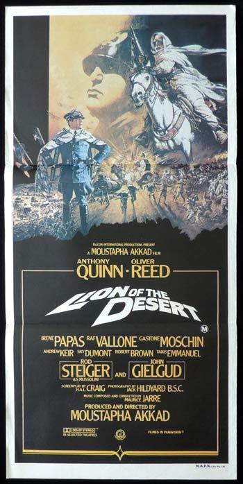 LION OF THE DESERT Daybill Movie poster Anthony Quinn