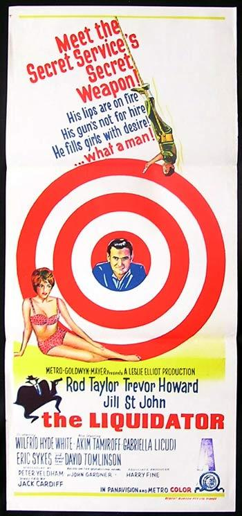 THE LIQUIDATOR Daybill Movie Poster Rod Taylor Jill St.John