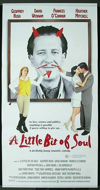 LITTLE BIT OF SOUL 1988 Geoffrey Rush Australian Film daybill
