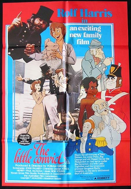 LITTLE CONVICT Movie Poster 1979 Rolf Harris ORIGINAL One sheet