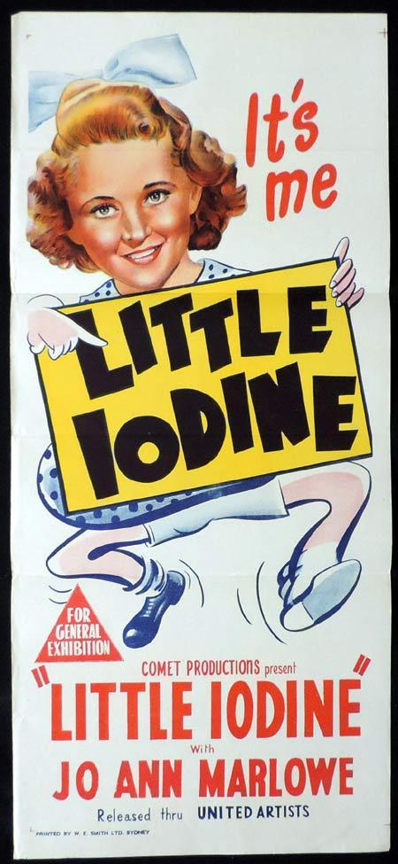 LITTLE IODINE Original Daybill Movie Poster Jo Ann Marlowe