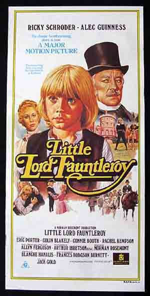 LITTLE LORD FAUNTLEROY, 1980, Alec Guinness, daybill Movie poster, Eric Porter, Colin Blakely, Connie Booth.