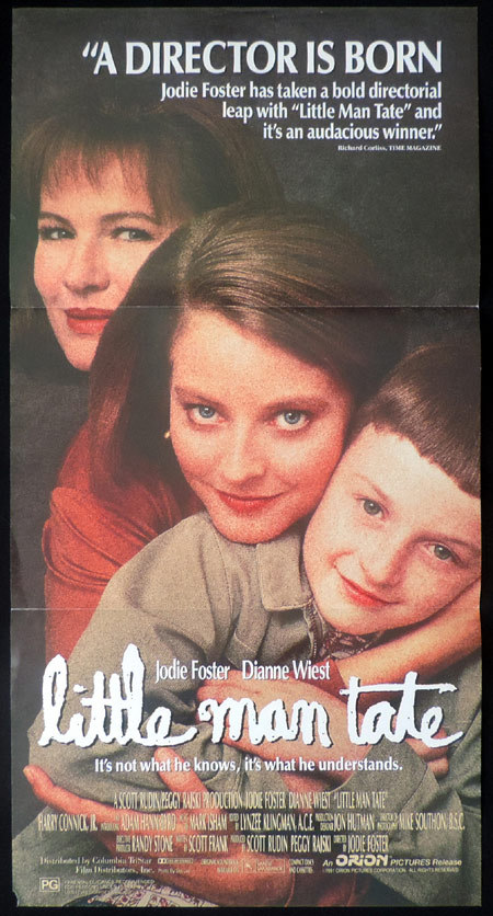 Little Man Tate, Jodie Foster, Jodie Foster, Dianne Wiest, Adam Hann-Byrd, Celia Weston, Michael Shulman, Debi Mazar, Harry Connick, Jr., David Hyde Pierce, Alex Lee, Jennifer Trier, Danitra Vance, Richard Fredette, George Plimpton, Bob Balaban