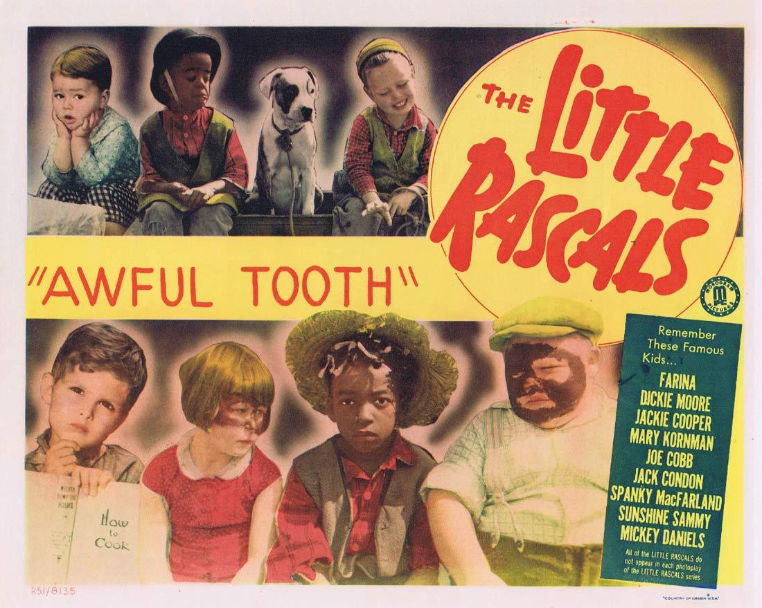 THE LITTLE RASCALS Awful Tooth Vintage Title Lobby Card 1951r