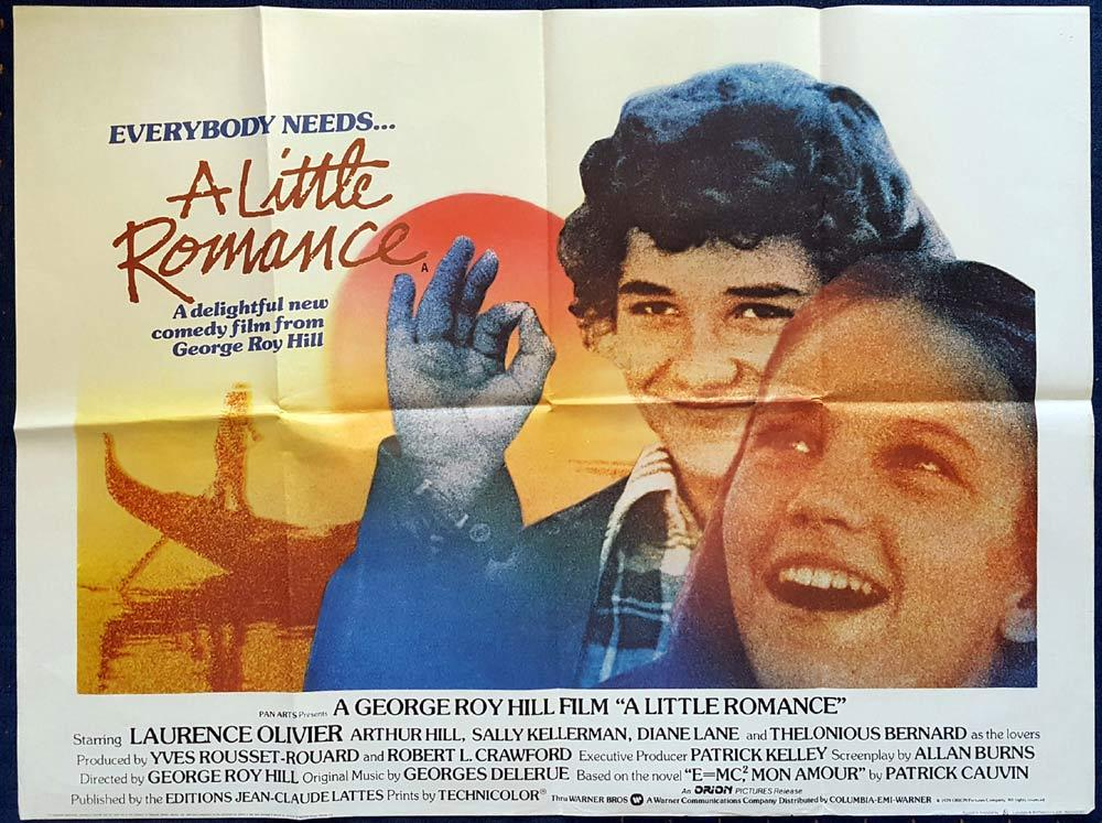 A LITTLE ROMANCE Original British Quad Movie poster Laurence Olivier Diane Lane