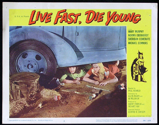 LIVE FAST DIE YOUNG 1958 Bad Girl Norma Eberhardt Lobby card 3
